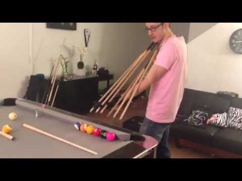 Pool Trick Shots | Venom Trick Shots Pool Balls Jump Shot