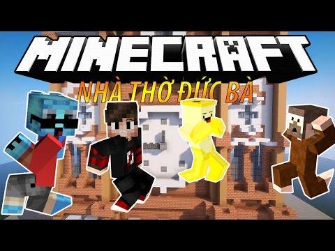 Minecraft Thành Phố Phim Hoạt Hình - Tập 3: CÔNG TRÌNH NHÀ THỜ ĐỨC BÀ (w/ Nấm Gumball)