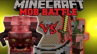 PINKY VS. ZOMBIE PIGMAN Minecraft Mob Battles Arena