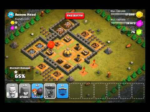 Clash of Clans Level 28 - Arrow Head - YouTube