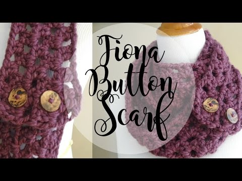 Youtube Crocheting A Scarf : Episode 19: How to Crochet the Fiona Button Scarf - YouTube