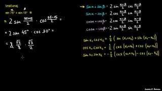 Faktorizacija trigonometričnih izrazov – naloga 1