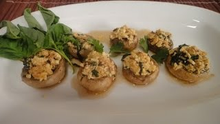 Spicy Paneer Stuffed Mushrooms..
