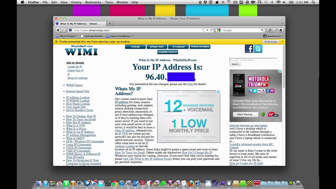 how to find out external ip address