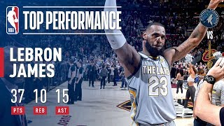 LeBron James' MONSTER Triple-Double Including a Game Winner in OT! | February 07, 2018