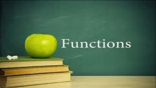 College Algebra Lesson 10 : Functions