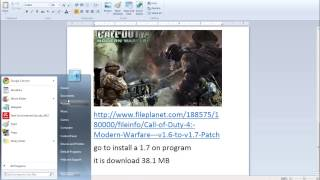 How To Install A 1.6 To 1.7 Patch On Cod4
