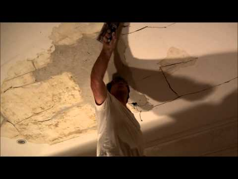 Lath and plaster water damaged ceiling repairs