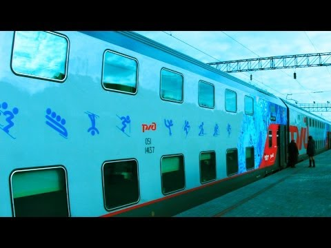 "Double-Decker Train ""Moscow-Sochi"" to Olympics-2014. ""Real Russia"" ep.72"