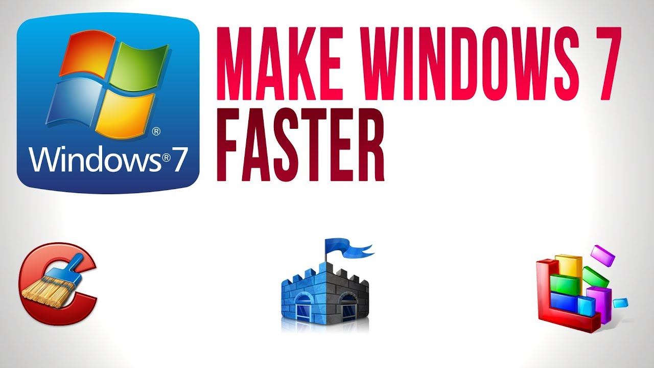 how to make windows 7 run faster youtube