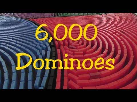 Domino Day 2013 - SOS Technique 6,000 Dominoes