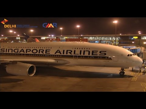 LIVE touchdown of Airbus 380 touchdown at Delhi Airport