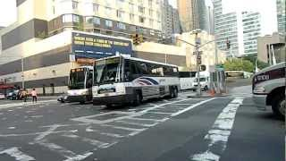 Commuter & Coach Buses Entering/Exiting 42 Street-Port