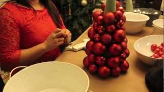 How To Make A Christmas Ornament Ball Tree
