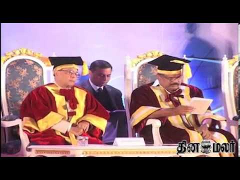 President Pranab Mukherjee in Convocation Function at Chennai - Dinamalar Feb 23rd 2014 News