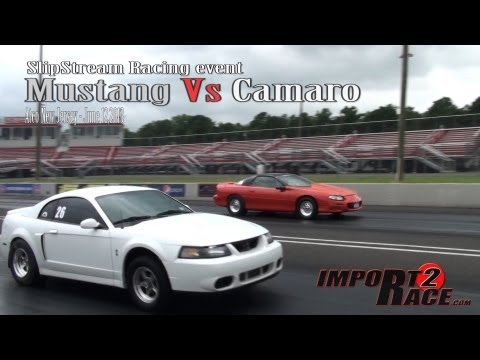 Mustang Vs Camaro drag race