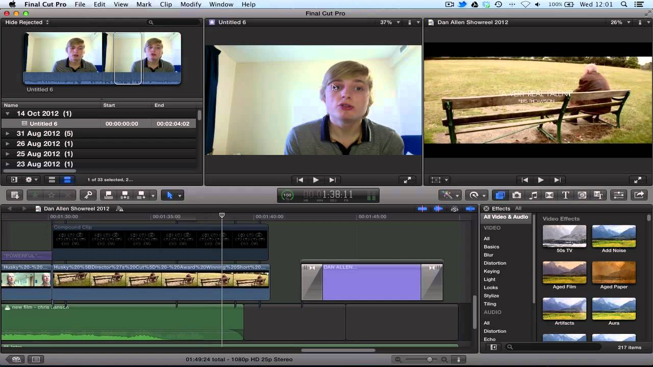 final cut pro x how to render hd clips