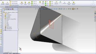 SolidWorks Sheet Metal Rectang to Circle
