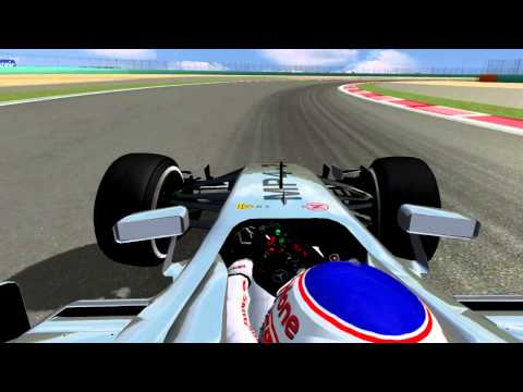 rFactor - F1 2014 - China GP (Shanghai) - Jenson Button Lap Onboard