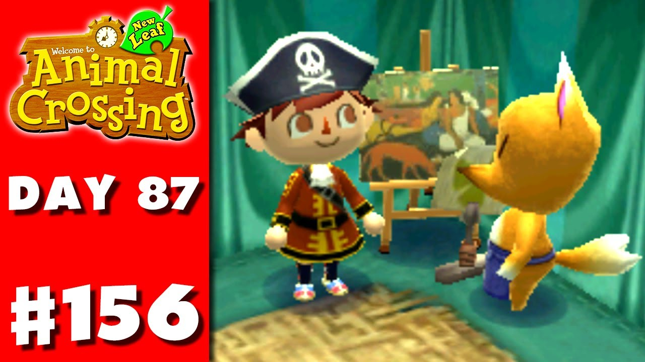 Animal crossing new leaf part 156 fine painting for Animal crossing mural