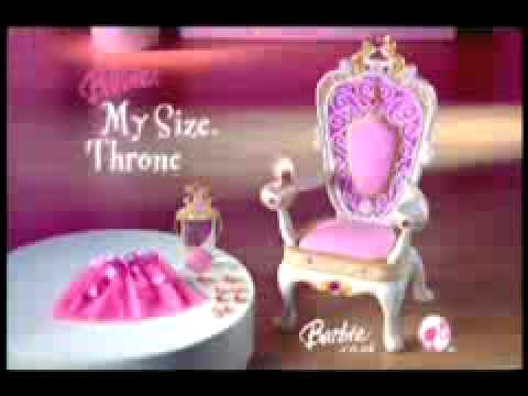 2007 uk barbie my size throne commercial