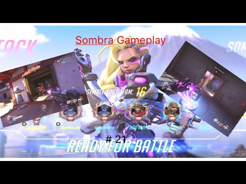 Sombra Gameplay! Let's play Overwatch #22