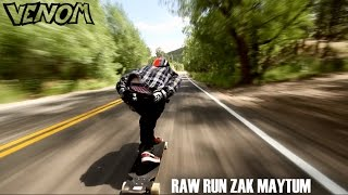 Downhill bombing on a Longboard goes 70mph!