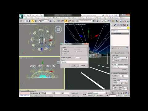 Light an exterior scene in 3ds Max