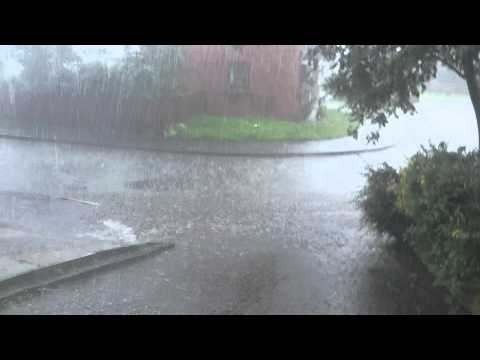 Heaviest rain storm ever in UK with hail