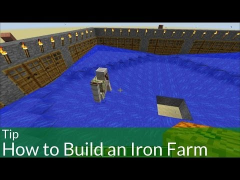 Tip: How to Build an Iron Farm in Minecraft