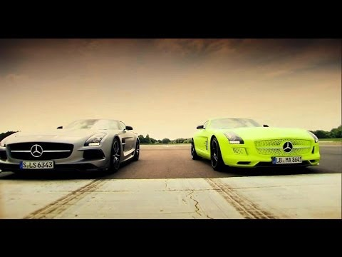 Petrol vs Electric - Mercedes SLS AMG Battle - Top Gear - Series 20 -