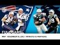 Cam Newton Beats Tom Brady Patriots vs Panthers Week 11 2013 NFL Full Game