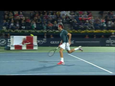 Roger Federer Hot Shot In Dubai 2014 Final vs. Berdych