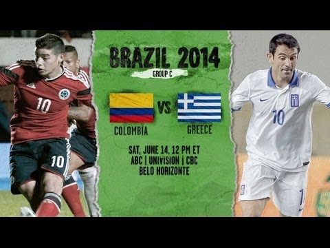 Colombia vs Greece Live Stream Online Watch 2014 FIFA World Cup 2014