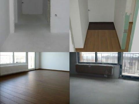 Finisaje interioare apartament,montat parchet laminat cu frezaj pe toate laturile