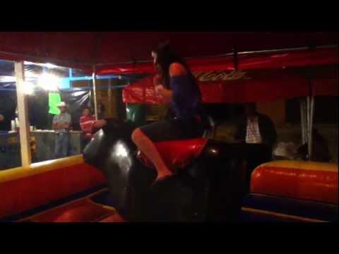 Natalie Riding a Bull...