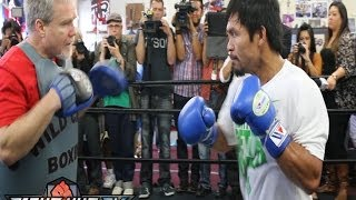 Pacquiao Vs Bradley 2 : Pacquiao Full Media Workout W