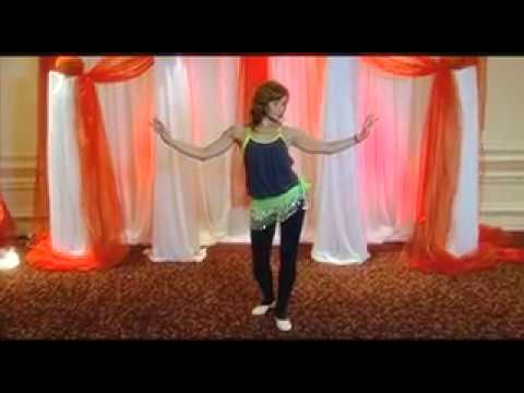 Belly Dance Lesson 1.. Hip Snap, Snake Arms, Hip Circle and more