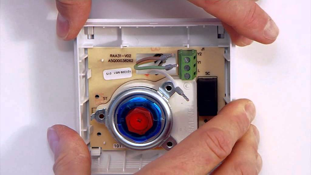 Wiring Diagram For Siemens Thermostat : Installation siemens room thermostat youtube