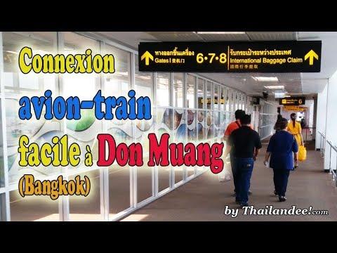 passerelle de la gare à l'aéroport de don muang à bangkok