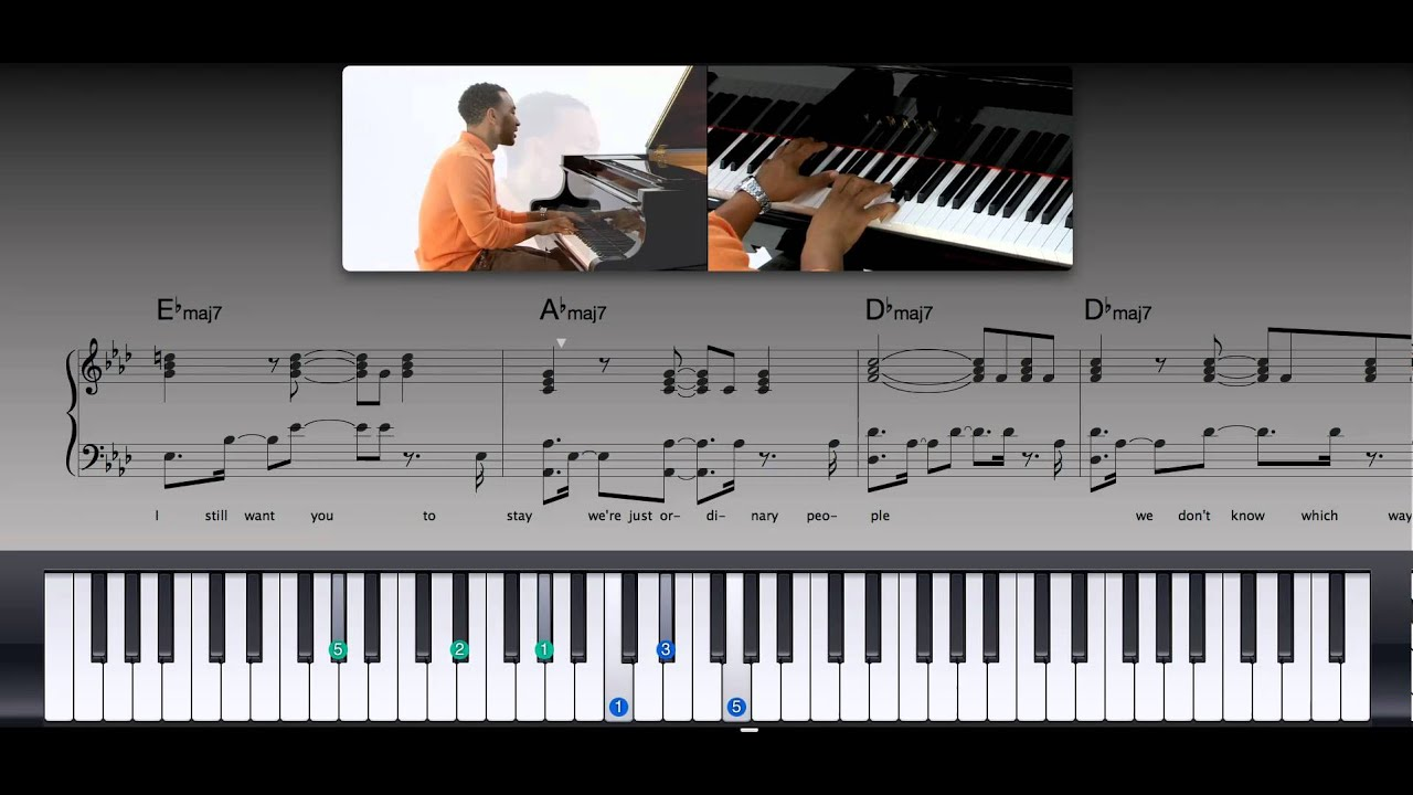 John Legend - Ordinary People (Piano Tutorial) - YouTube
