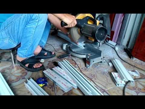 Hướng dẫn làm cửa nhôm,cửa lùa hai cánh,kỹ năng cơ bản học nghề nhôm kính
