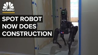 Boston Dynamics' Robot Spot Inspects Construction