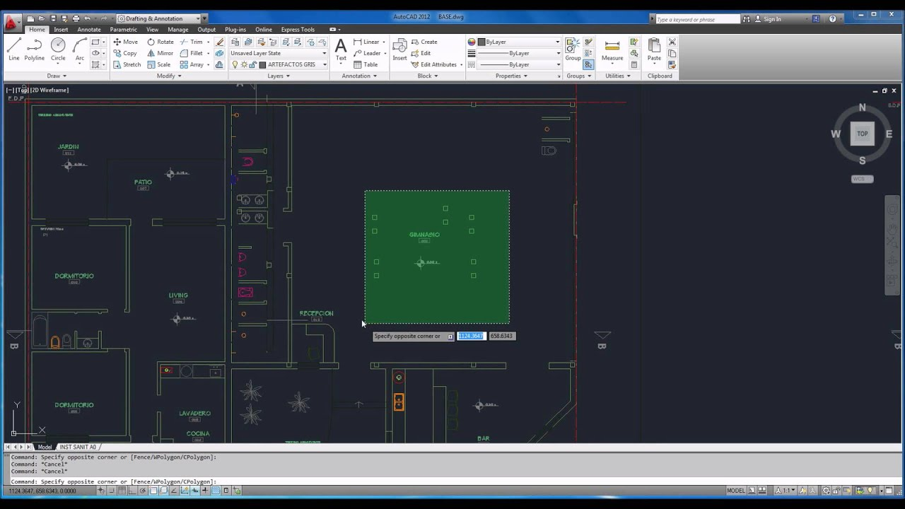 Autocad tutorial basico starter 8 xref referencias for Fenetre xref autocad