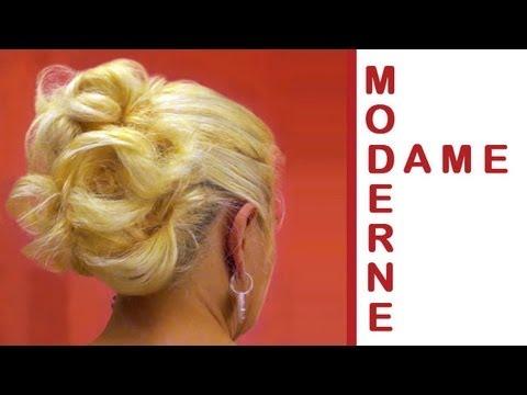 moderne dame hochsteckfrisur selber machen für mittel
