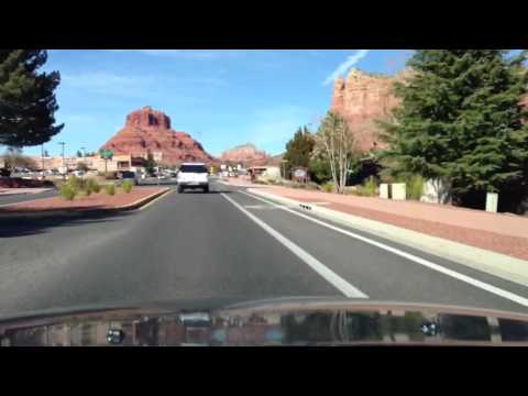 Trip to Sedona Arizona, Scenic Red Rock Drive Through Village of Oak Creek