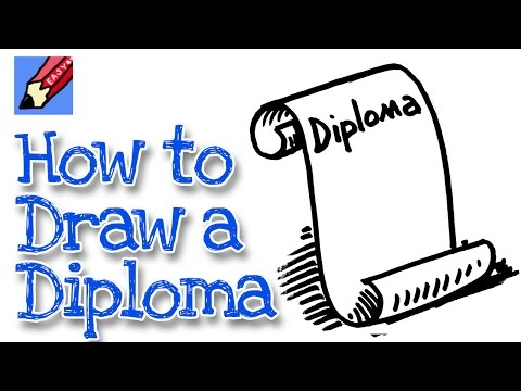 How to draw a Graduation Scroll real easy - spoken tutorial