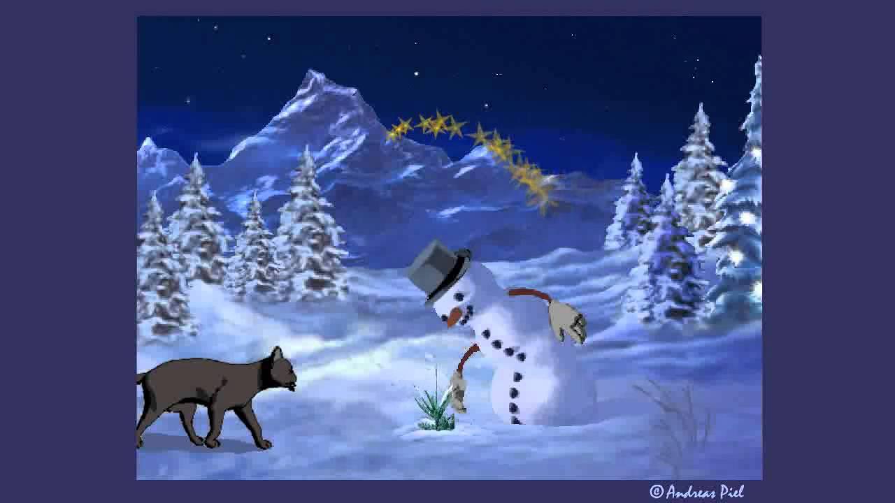 animierte weihnachts e card katze baut schneemann youtube. Black Bedroom Furniture Sets. Home Design Ideas