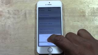 IPhone 5s How To Reset Back To Factory Settings