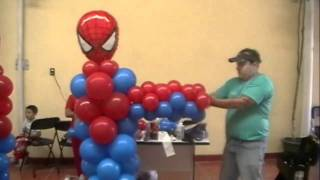 Curso Decoracion Con Globos Spiderman Video 4 FIGURAS